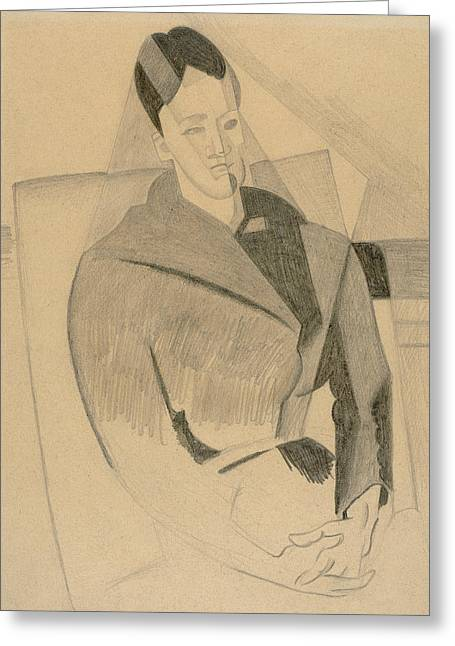 Portrait Of Mme Cezanne After Cezanne Greeting Card