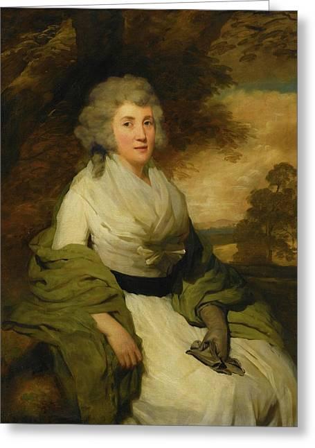 Portrait Of Mrs John Parish Greeting Card by MotionAge Designs