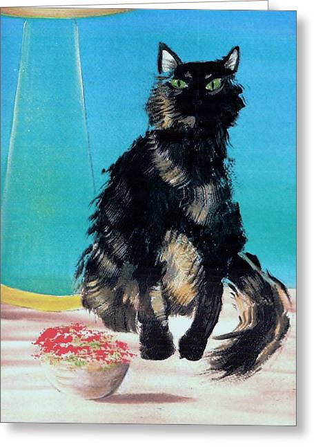 Portrait Of Muffin Greeting Card