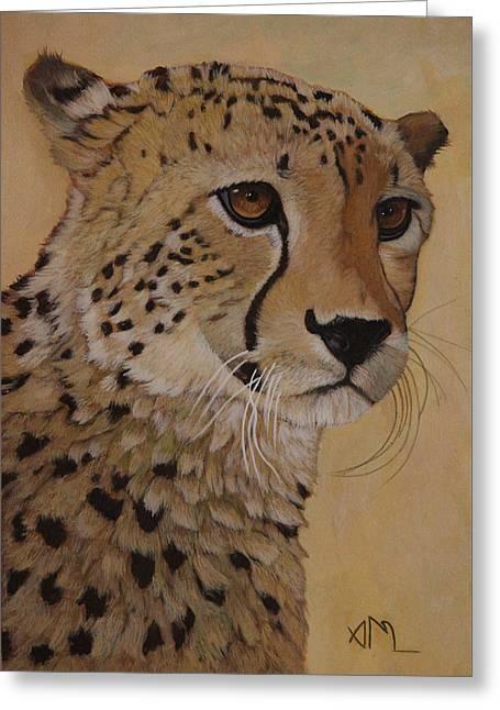 Portrait Of Murphy - Male Cheetah Greeting Card