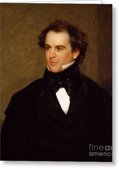 Portrait Of Nathaniel Hawthorne Greeting Card