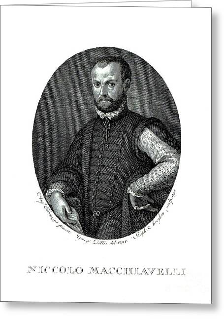 Portrait Of Niccolo Machiavelli  Greeting Card