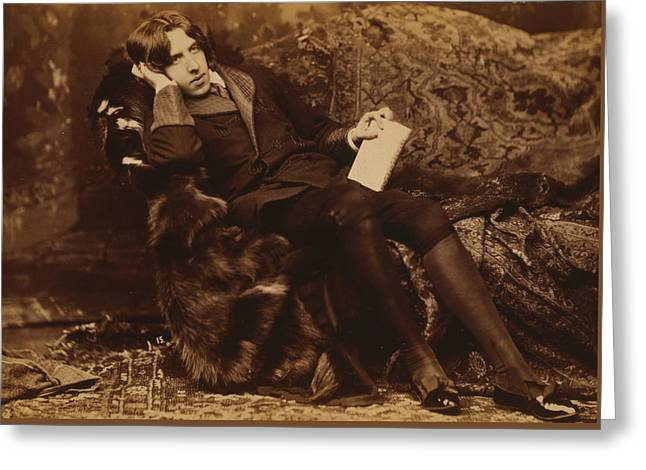 Portrait Of Oscar Wilde Greeting Card by Sarony Napoleon