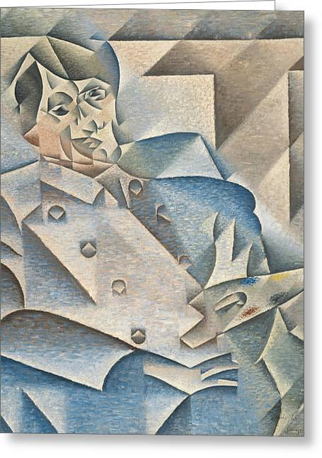 Portrait Of Pablo Picasso Greeting Card by Juan Gris