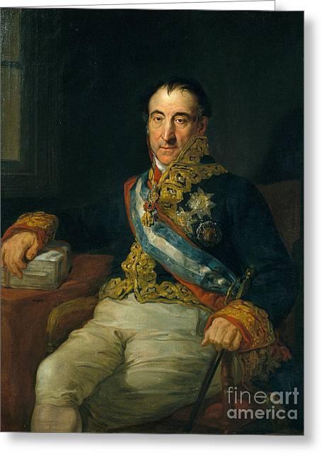 Portrait Of Pedro Gomez Labrador Greeting Card