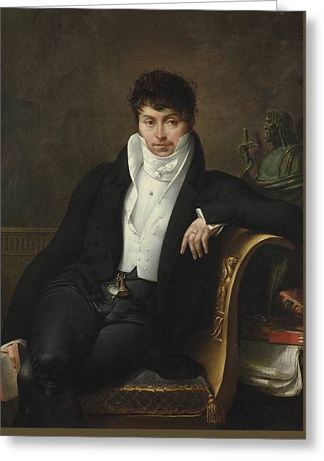 Portrait Of Pierre-jean-george Cabanis Greeting Card by Merry-Joseph Blondel