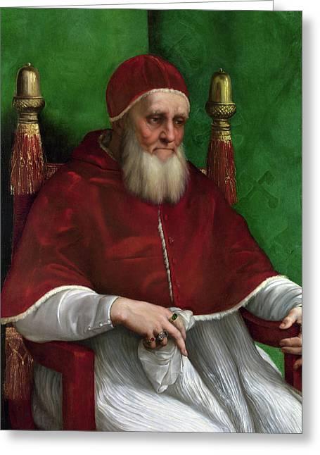 Portrait Of Pope Julius II - 1511 Greeting Card by Raphael
