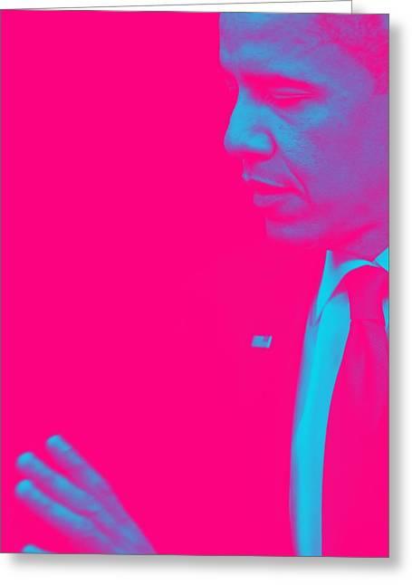 Portrait Of President Barack Obama 38a Greeting Card