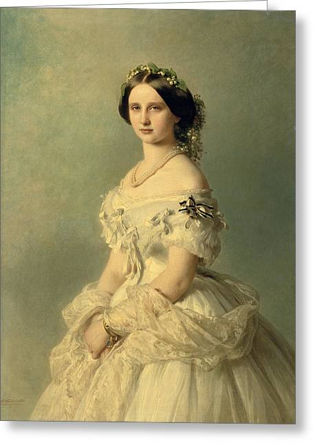 Monarch Greeting Cards - Portrait of Princess of Baden Greeting Card by Franz Xaver Winterhalter