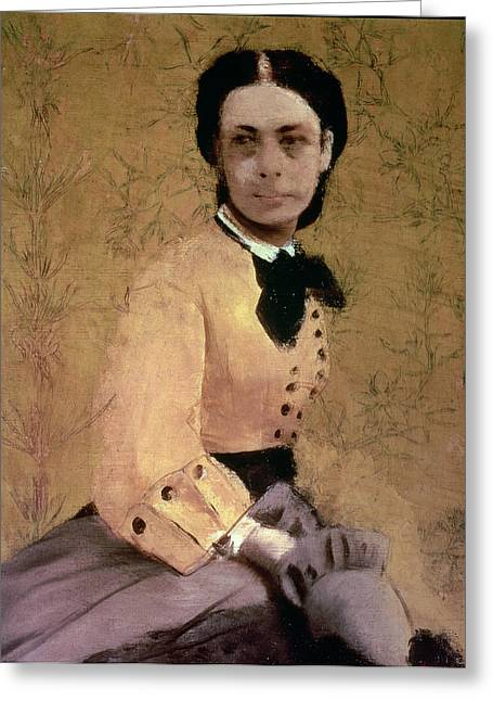Portrait Of Princess Pauline De Metternich Greeting Card by Edgar Degas
