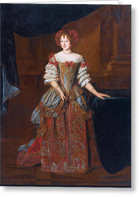 Portrait Of Princess Teresa Pamphili Cybo Greeting Card by Jacob Ferdinand Voet