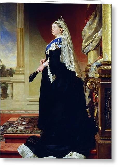 Portrait Of Queen Victoria As A Widow Greeting Card