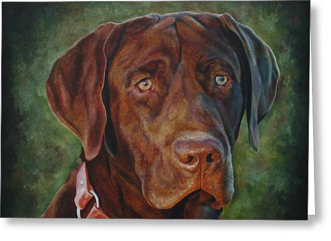 Portrait Of Remington 0094_2 Greeting Card