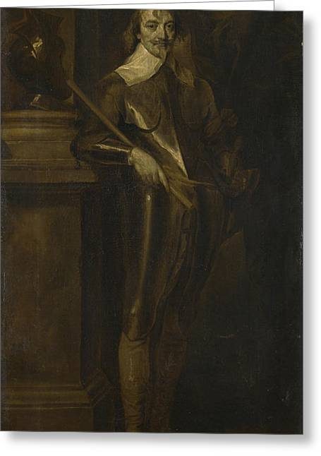 Portrait Of Robert Rich  Nd Earl Of Warwick Greeting Card by After Anthony van Dyck