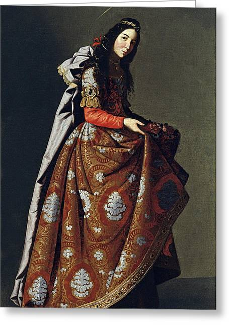 Portrait Of Santa Casilda Greeting Card