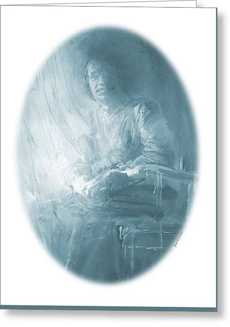 portrait of Sathya Sai Baba Greeting Card