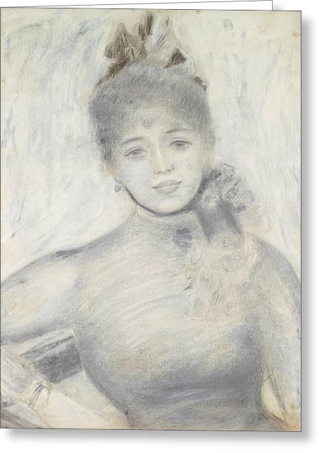 Portrait Of Severine Greeting Card by Auguste Renoir