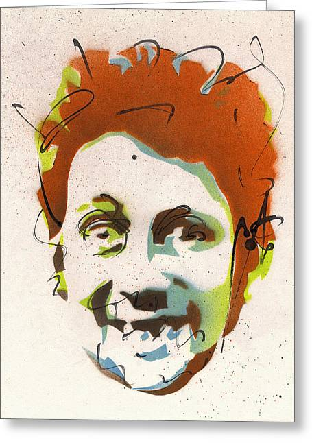 Portrait Of Shane Macgowan #2 Greeting Card