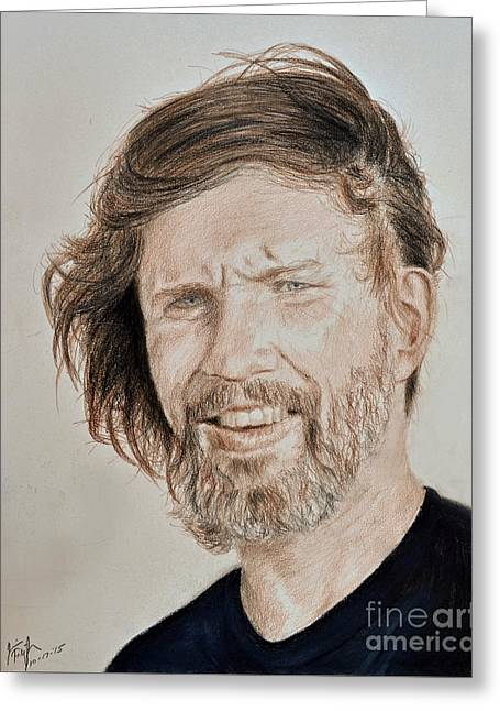 Portrait Of Singer, Songwriter, Musician And Actor Kris Kristofferson Greeting Card
