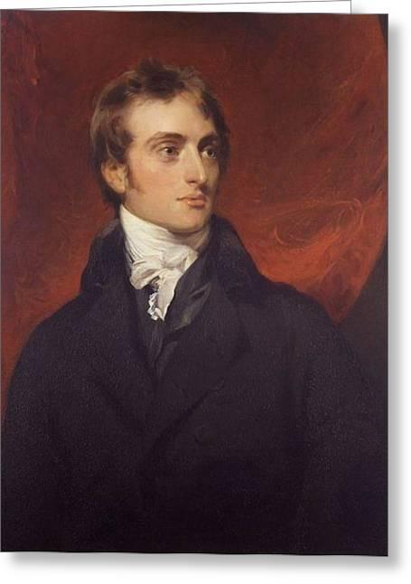 Portrait Of Sir Codrington Greeting Card by Thomas Lawrence