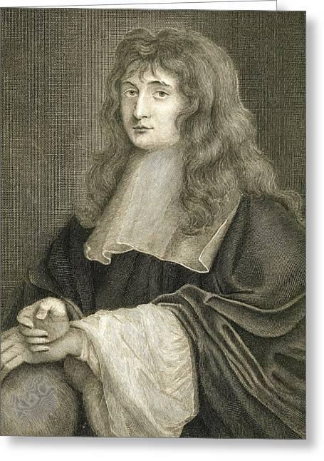 Portrait Of Sir Isaac Newton Greeting Card by Sir Peter Lely