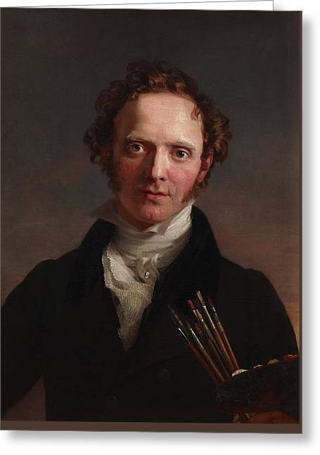 Portrait Of The Artist, Circa 1810-1829, By George  Greeting Card by Celestial Images
