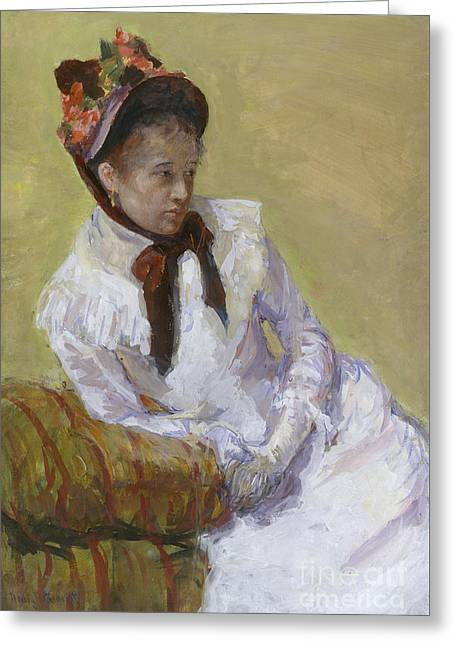 Portrait Of The Artist Greeting Card