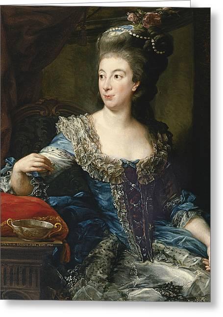 Portrait Of The Countess Maria Benedetta Di San Martino Greeting Card by Pompeo Batoni