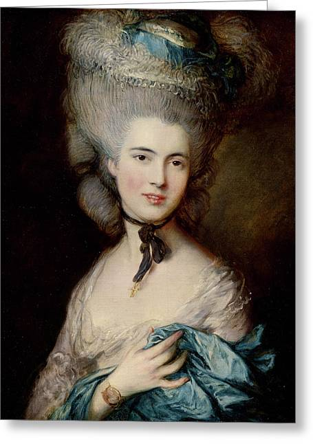 Portrait Of The Duchess Of Beaufort Greeting Card by Thomas Gainsborough