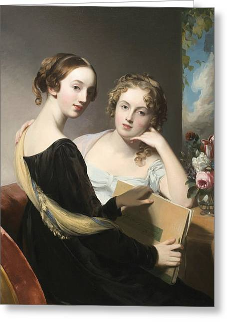 Portrait Of The Misses Mary And Emily Mceuen Greeting Card