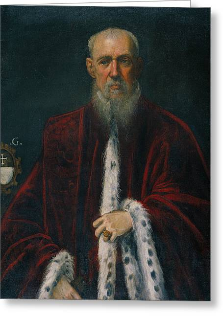 Portrait Of The Procurator Alessandro Gritti Greeting Card by Tintoretto