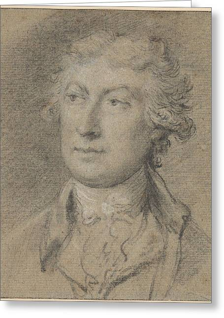 Portrait Of Thomas Gainsborough Greeting Card by MotionAge Designs
