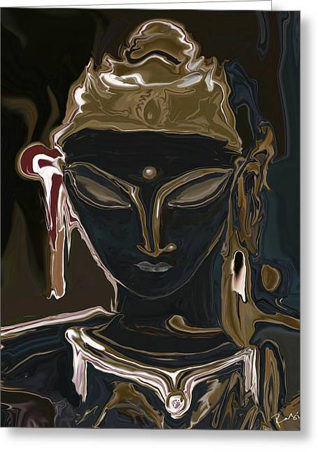 Portrait Of Vajrasattva Greeting Card by Rabi Khan