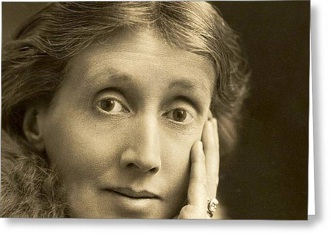 Portrait Of Virginia Woolf, 1927 Greeting Card by English School