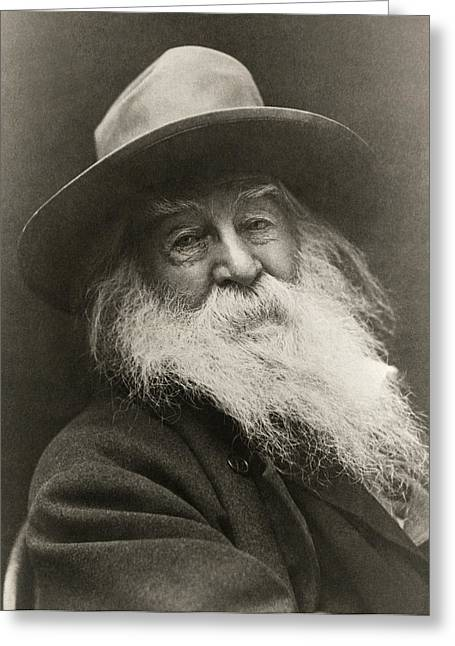 Portrait Of Walt Whitman Greeting Card