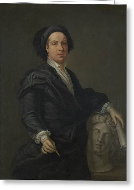 Portrait Of William Kent Greeting Card by William Aikman