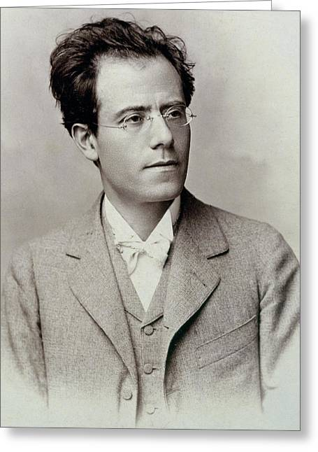 Portrait Photograph Of Gustav Mahler Greeting Card