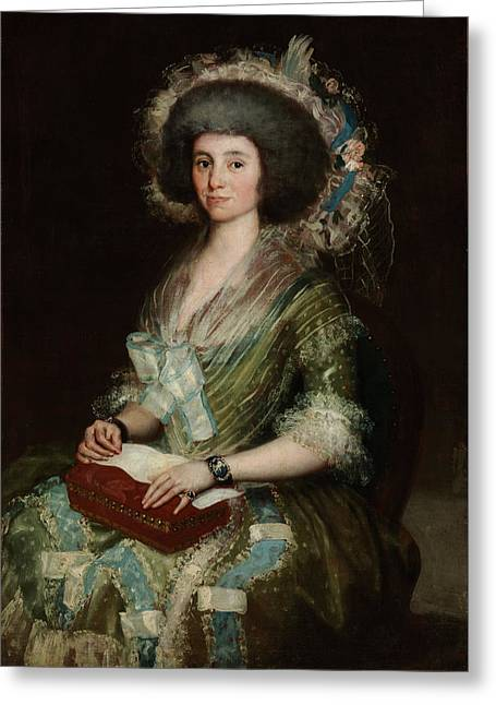 Portrait Senior Sean Bermudes Portrait Of Maria De Borbon Luisy Greeting Card by Francisco Goya