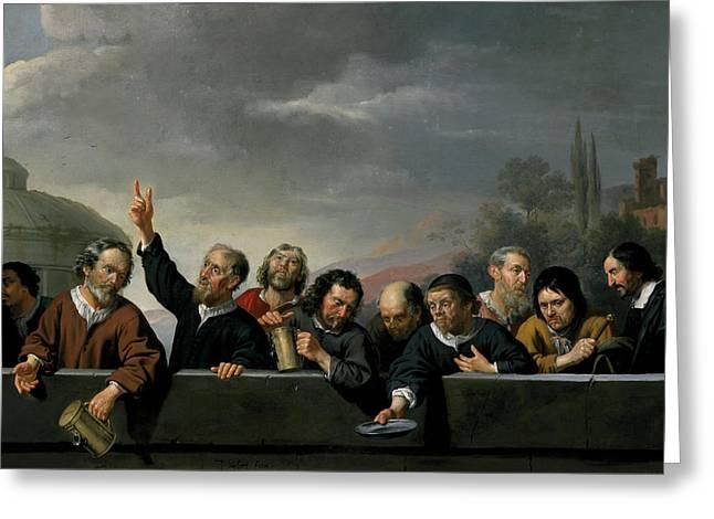 Portraits Of The Inhabitants Of St Jobsgasthuis In Utrecht Greeting Card by Jan Van Bijlert