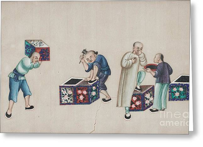 Portraying The Chinese Tea Traders Greeting Card by Celestial Images