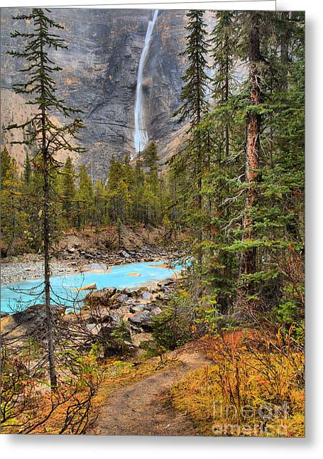 Greeting Card featuring the photograph Portrait Of Takakkaw Falls by Adam Jewell
