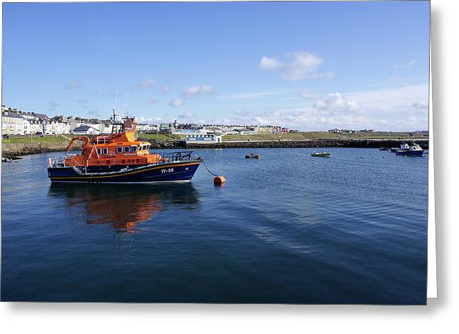 Portrush Rnli Lifeboat Greeting Card