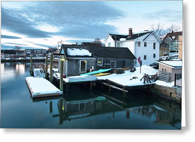 Portsmouth Bait Shop Greeting Card by Eric Gendron