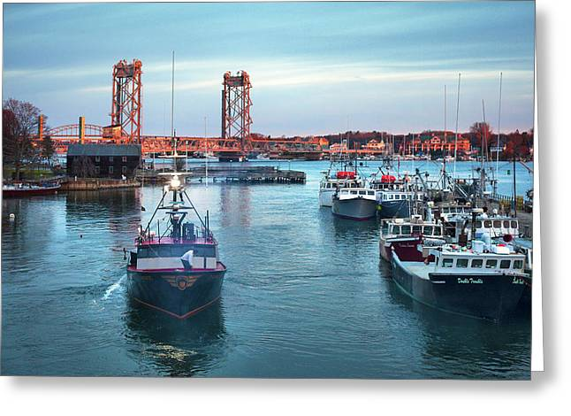Portsmouth Fishing Boats Greeting Card by Eric Gendron