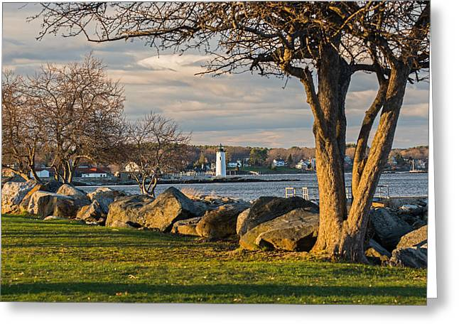 Portsmouth Harbor Light At New Castle Commons Greeting Card