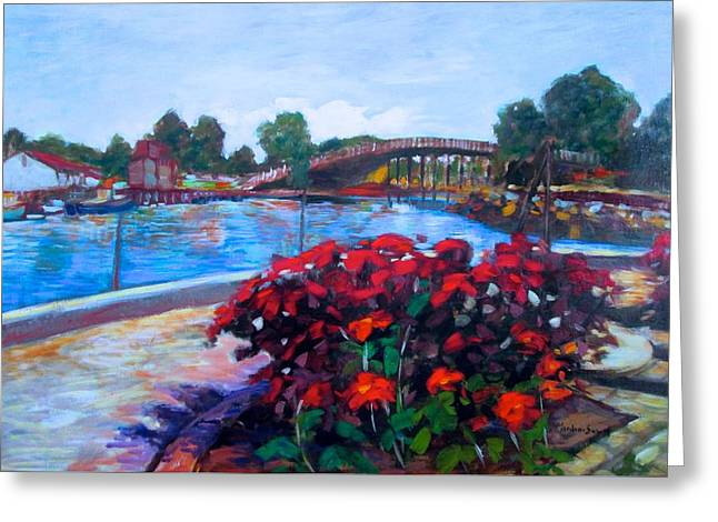 View From Prescott Park In Portsmouth Greeting Card by Marilene Sawaf