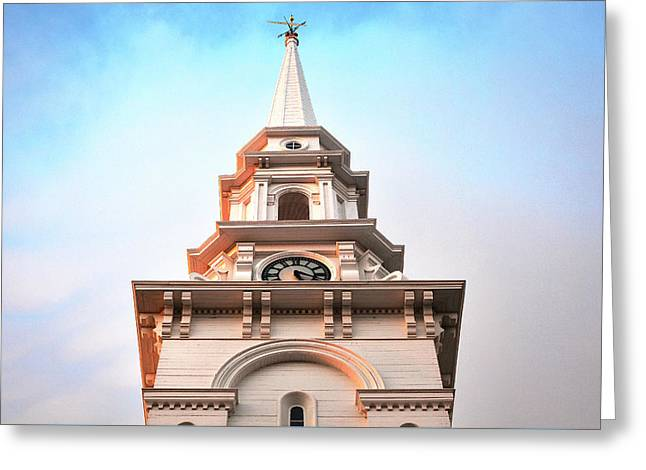 Portsmouth North Church Steeple Greeting Card by Eric Gendron