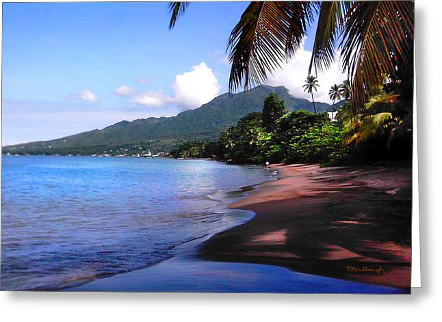 Portsmouth Shore On Dominica Filtered Greeting Card