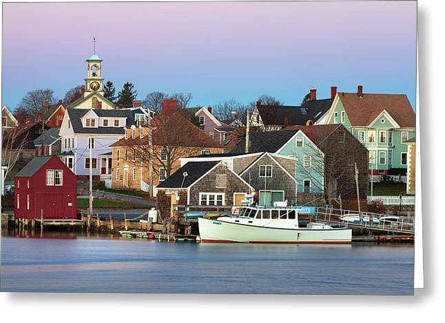 Portsmouth South End Greeting Card by Eric Gendron