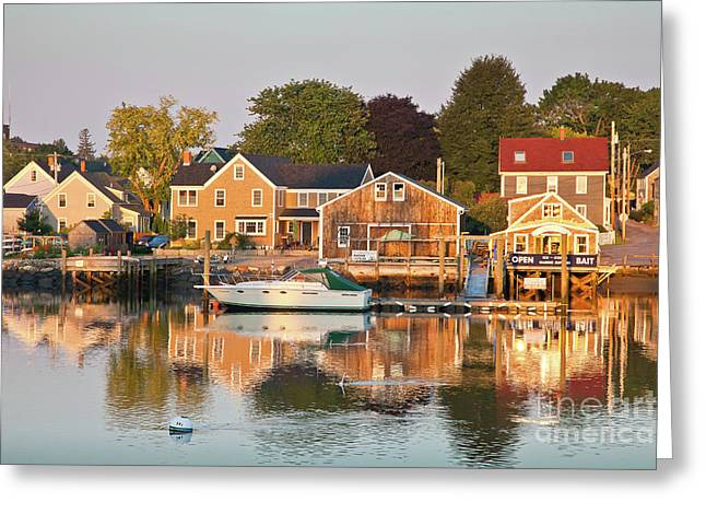 Greeting Card featuring the photograph Portsmouth South End Waterfront by Susan Cole Kelly